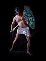 'Perseo con su escudo'