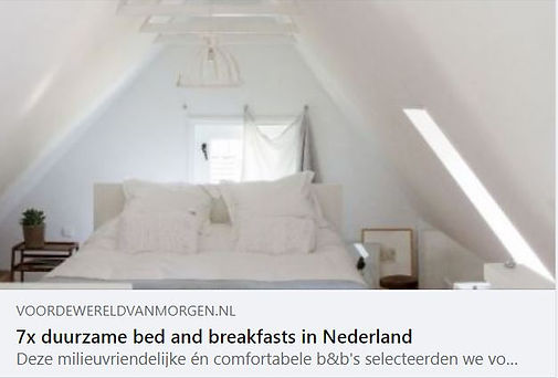 duurzaam Bed and breakfast B en B wereld