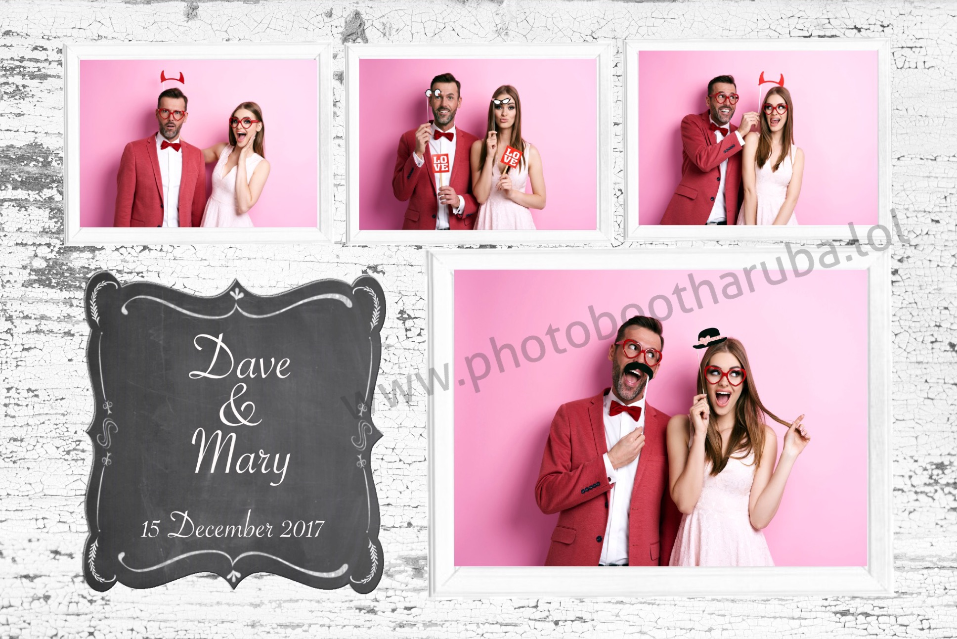 Romantic 4 images layout
