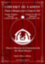 Sinfonietta Affiche Concert de l'Avent 2