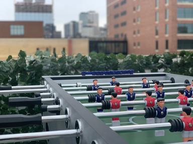 Foosball at the Rooftop Bar