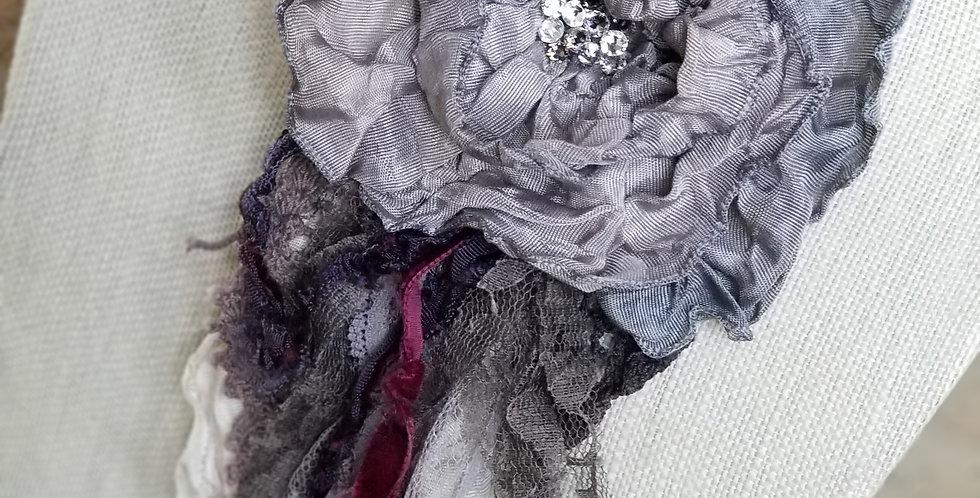 Grey with lavender glaze- Large