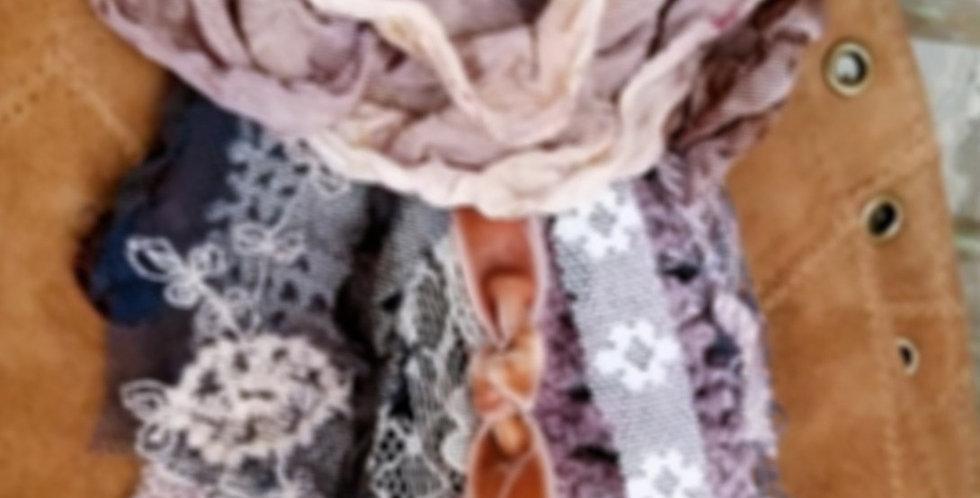 Multi Vanilla Antique Lavender Brooch