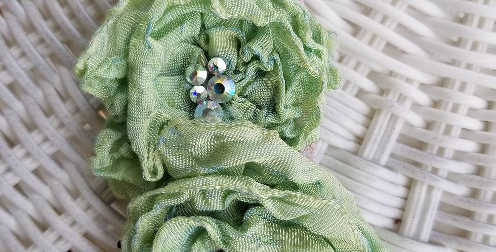 Mint Kiwi Green Pair of small brooch