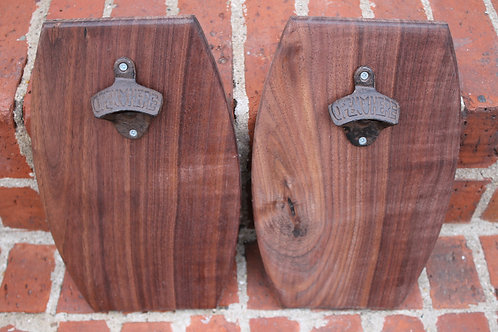 Wall Bottle Opener- Black Walnut
