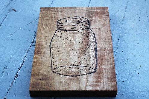 Wood Burning- Jar