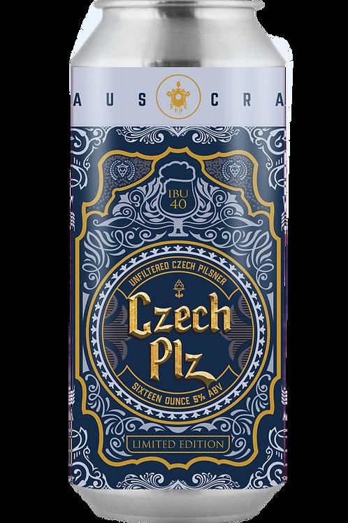 Czech Plz, Czech Pilsner 16oz 4 pk