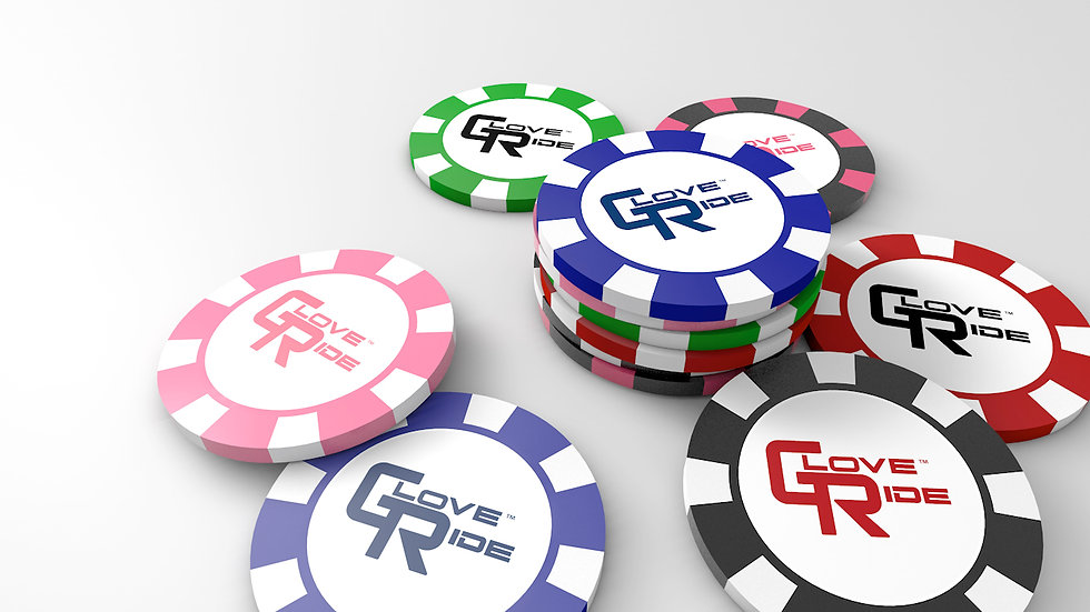6-pack of GloveRide™ Poker Chip Ball Markers