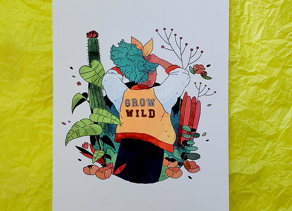 Grow wild - Print A5