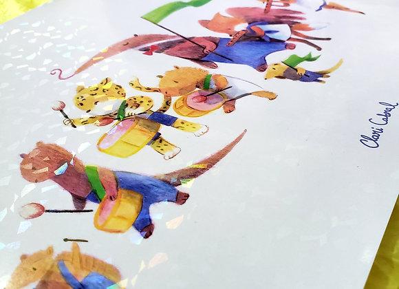 Bandinha - Print holográfico A4