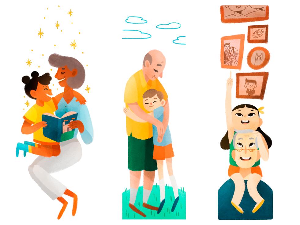Avós e netos   Revista Conexão FACHESF