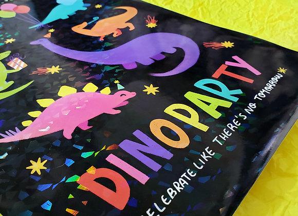 Dinoparty Preto - Print holográfico A4
