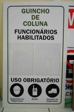 Placa c/ display's transparentes