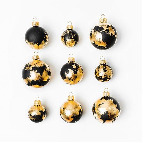 Christmas composition made of black Chri