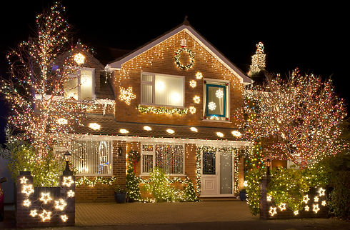 Christmas Lights outside on a House.jpg
