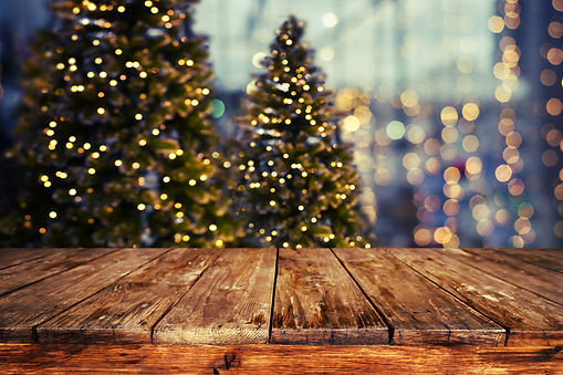 Christmas abstract blur background - lig