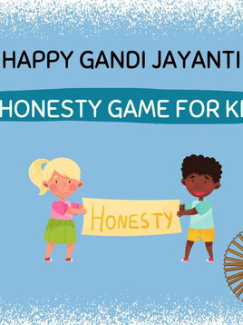An Honesty Game for Kids   Happy Gandhi Jayanti   Kids Activity