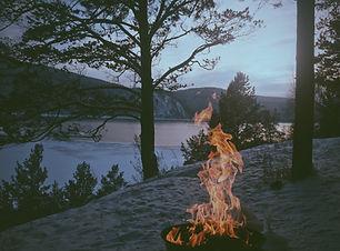 Bonfire i Sand