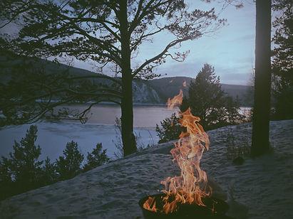 rituel de guérison ou de célébration dans la nature