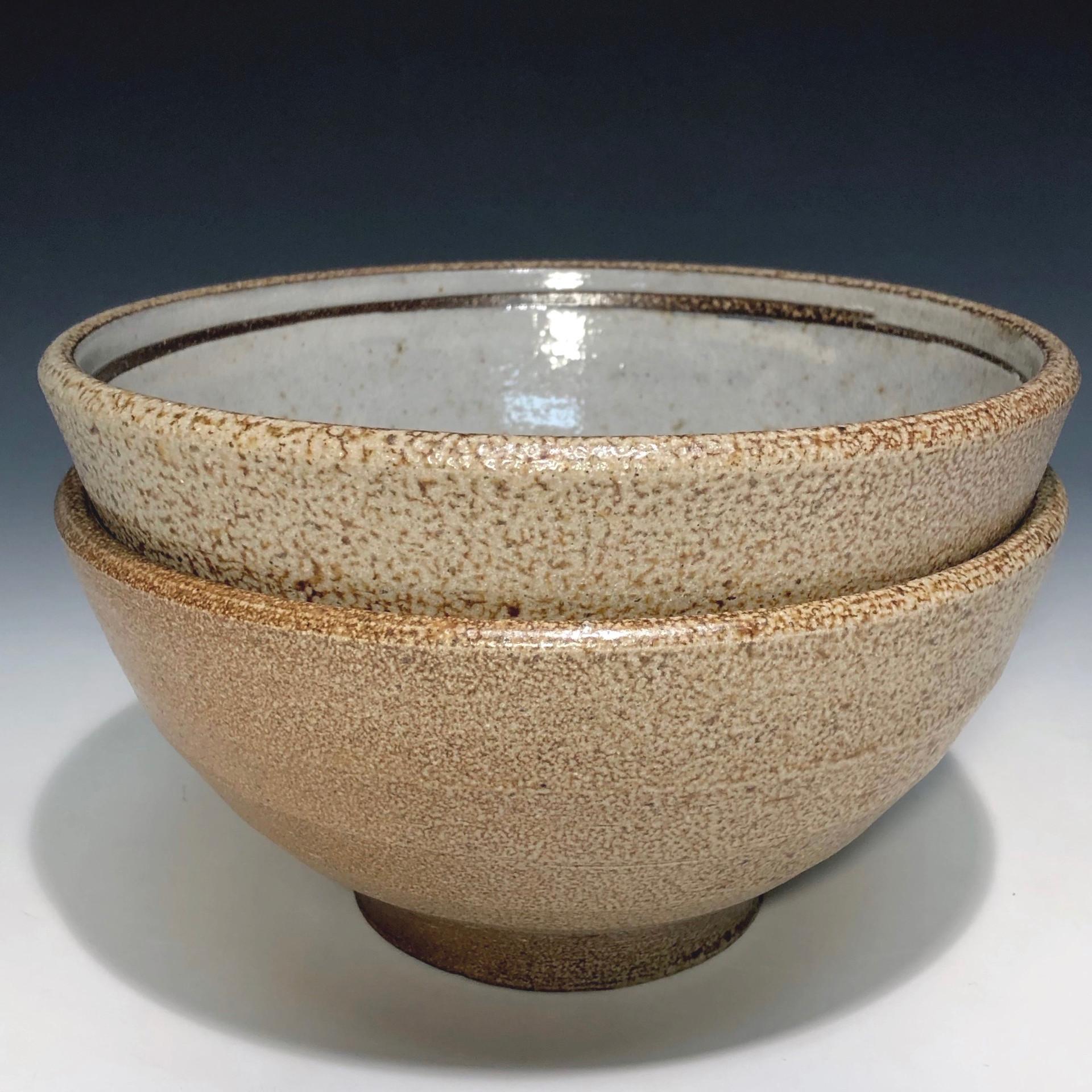 soup bowls - salt glazed