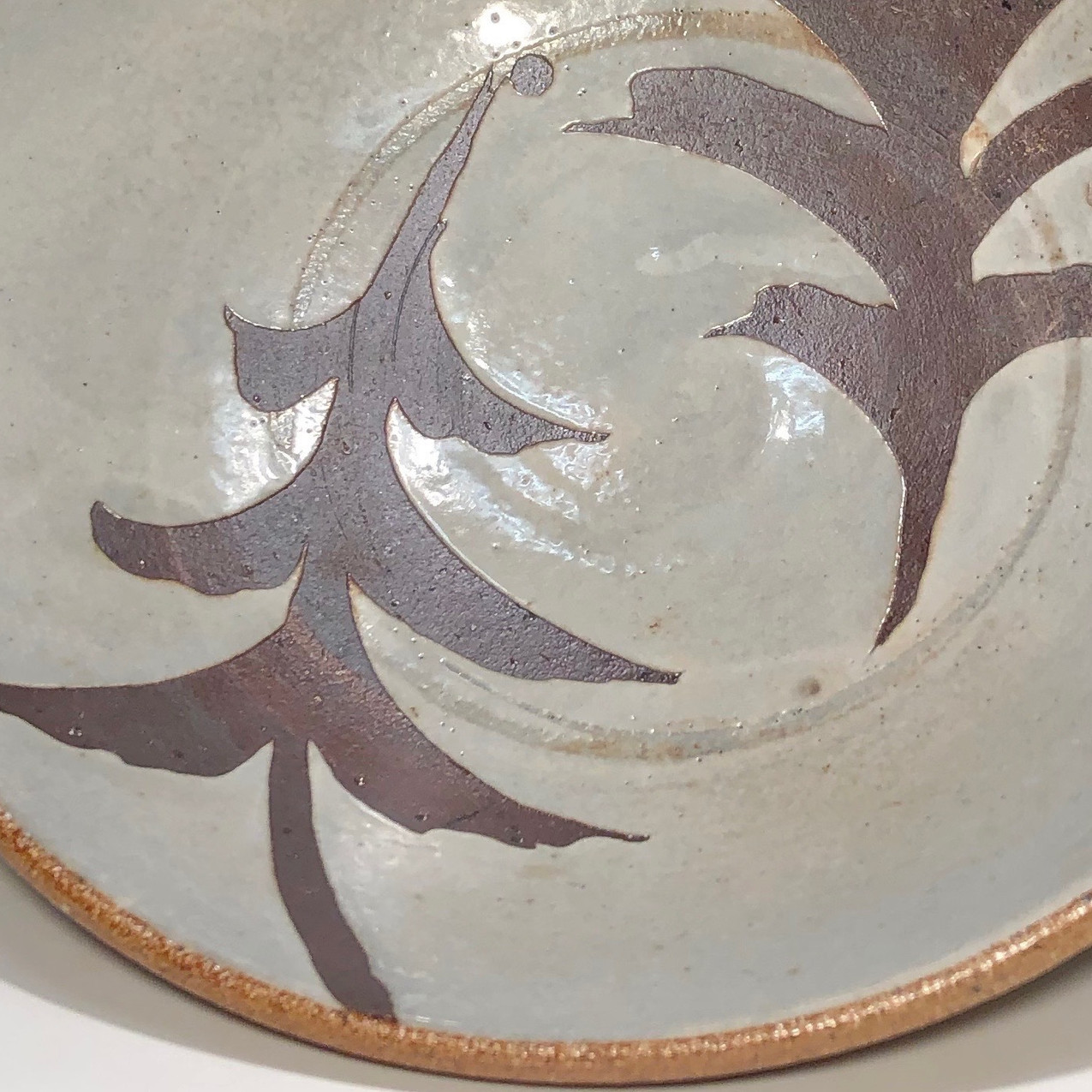 shallow bowl with brushwork - detail