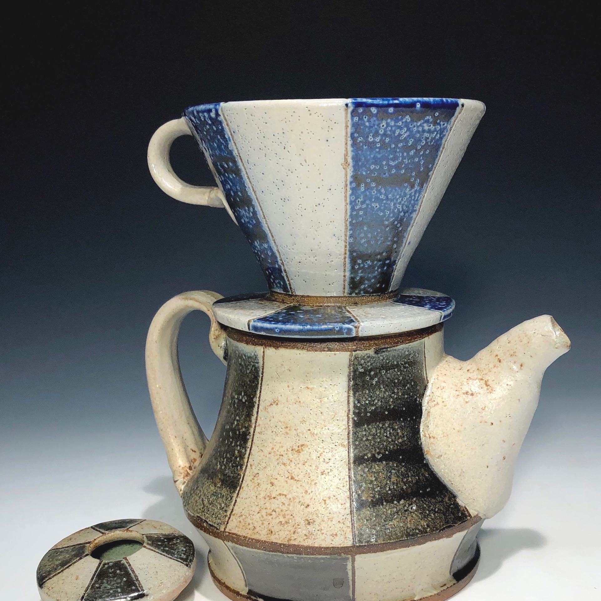 coffee pot with pour-over cone