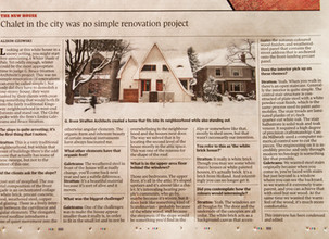 The White Brick House is featured today in the Globe And Mail.
