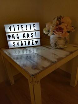 Bílá LED tabule
