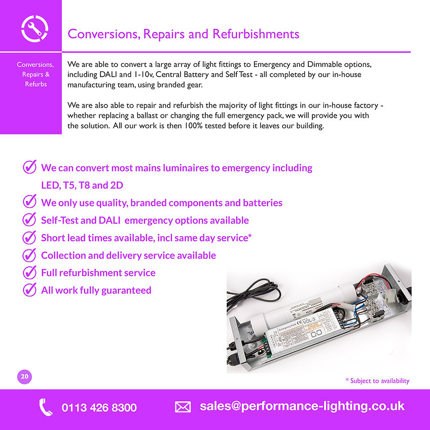 Conversions, Repairs & Refurbishments