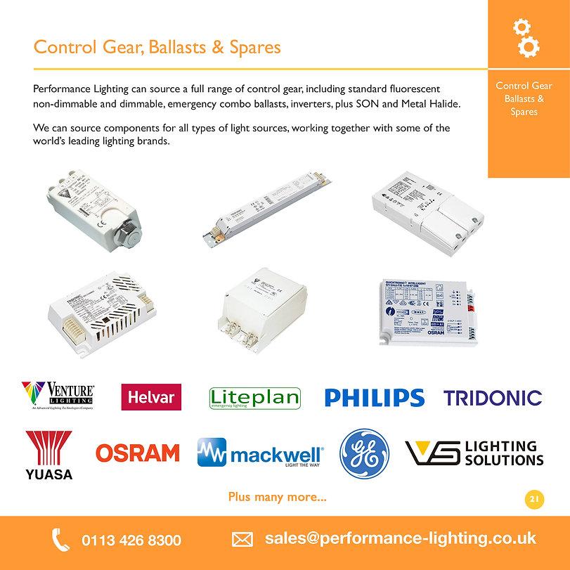 Control Gear, Ballasts & Spares