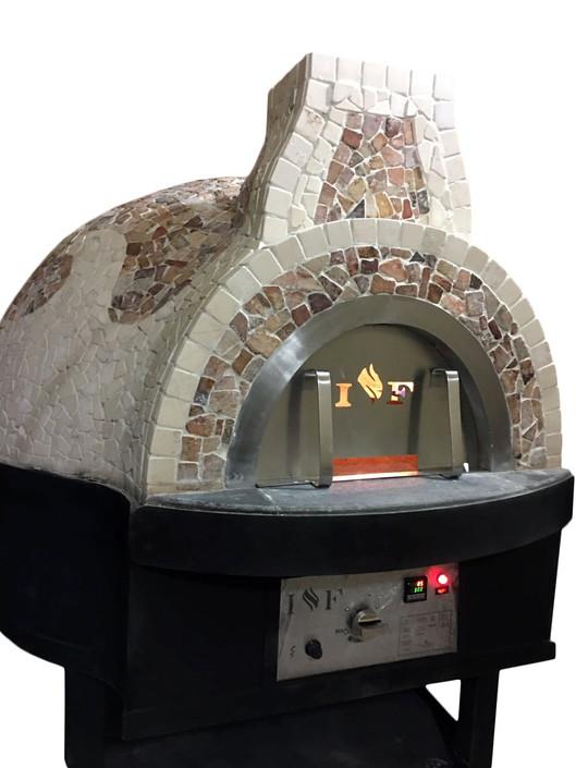 horno de leña rotativo