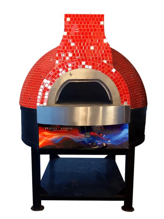 forno pizza rotante a gas