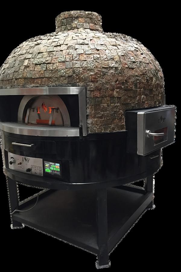 Horno de leña rotatorio indicado para grandes produciones tambien disponemos de hornos de gas