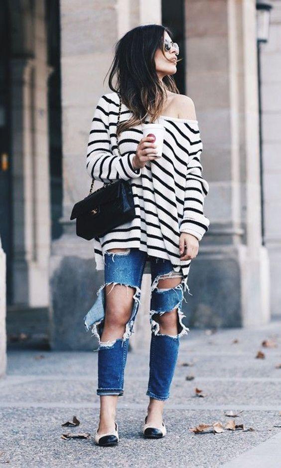 Maxi tricô e Jeans
