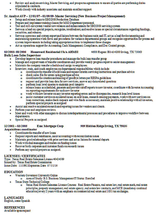 MTC Commercial Real Estate   MTC Commercial Real Estate Asset Management Resume Real Estate Asset Manager Resume