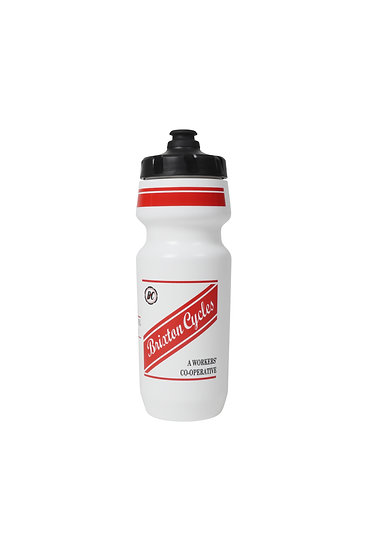 Brixton Cycles Red Stripe Water Bottle