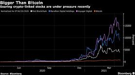 Crypto Stock Mania Tested by Sliding Prices, Bitcoin Slump