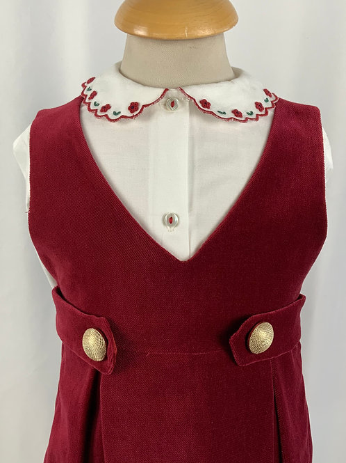 Scamiciata in velluto rosso