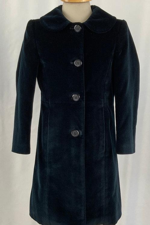 Cappottino blu di velluto