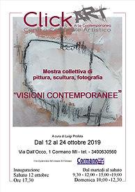 Locandina mostra collettiva Visioni cont