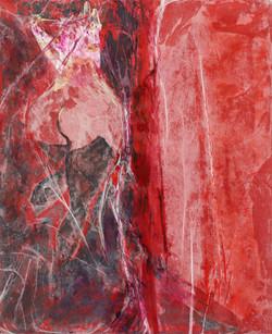 ANTICAMERA 31,5 x 25,5 cm 2021 collage strutturale su cartone