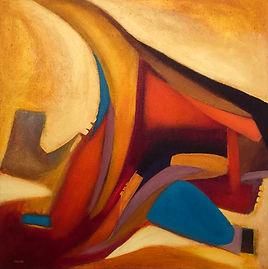 Michle Sliepcevich CALMA APPARENTE 100 x 100 cm 2021 acrilico su tela.jpeg