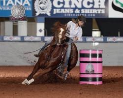 Pink Buckle Barrel Race