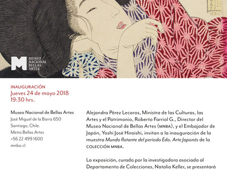 """Inauguración exposición """"Mundo flotante del periodo Edo: arte japonés de la colección MNBA&quot"""