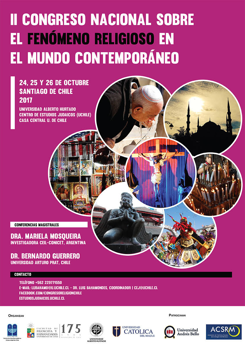 Afiche II Congreso Nacional sobre el fenómeno religioso en el mundo contemporáneo