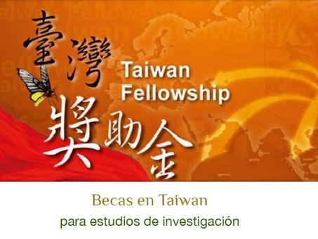 Programa Taiwan Fellowship ofrece becas para proyectos de investigación en Taiwán