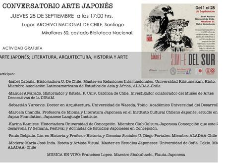 Conversatorio Arte Japonés en el Archivo Nacional de Chile