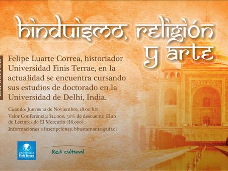 """Charla """"Hinduísmo, religión y arte"""", 12 de noviembre, Universidad Finis Terrae"""