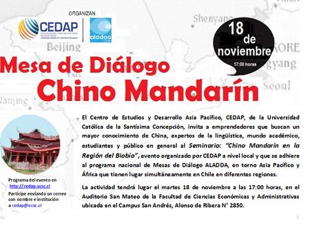 La Enseñanza del Chino Mandarín en la Región del Biobío.