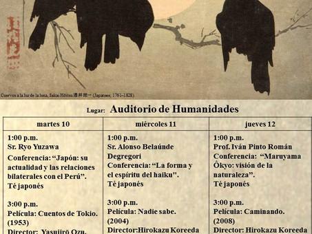 Perú: Jornada Cultural Japonesa -10, 11 y 12 de noviembre